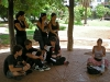 Jovenes del parque que se sumaron.