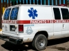 La ambulancia de Panchito en el lado mexicano de la frontera.