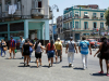 crossing the street in centro habana