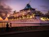 cruiser docked in Havana