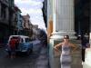 woman, street, cab