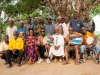 taw_20 Los Cubanos con los ancianos del pueblo. De izquierda a derecha: Joe Ali, Elvira, Yandrs, El  jefe de sector Joe Ali, Elvira, Yandrys,jefe de sector Mabadu Pokawa, Humberto y Alfredo.