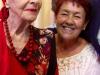 Primera bailarina Alicia Alonso y Georgina Fariñas. (foto cortesía del Grupo Nacional de Psicoballet de Cuba)