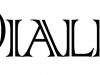 Logo dialfa con letras