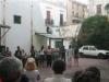 """Yomer during the inauguration of the """"Filos de Seda"""" [Blades of Silk show in the Gallery Luz y Oficios.\"""""""