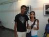 Yomer together with Cristina Padura who wrote the catalogue.
