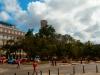 Vista del parque Central, sobre el que destaca una de las torres del CA.