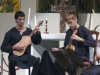 Pablo Robbio  Cítola y guitarra morisca y Henry Vidal, viellas, rebah, rabel, salterio y rota