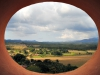 Una vista hacia el valle desde el  mirador o torre.
