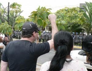 Honduras talks at do-or-die state.  Photo: Giorgio Trucchi, rel-UITA