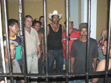 Detained farmers in Honduras.  Photo: Giorgio Trucchi - Rel-UITA