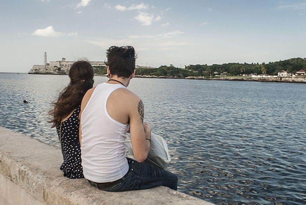 En el Malecón de La Habana. Foto: Caridad