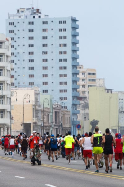 Del reciente Marabana maratón en La Habana. Foto: Juan Suárez