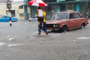 Lluvias de la semana pasadacausaron algunas inundaciones.  Foto: Juan Suárez