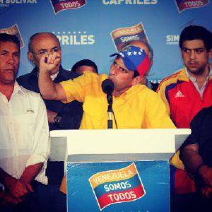 Foto: de la página de Facebook de Henrique Capriles.