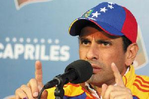 El candidato Henrique Capriles.