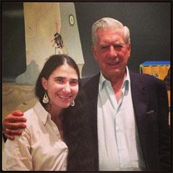Yoani Sánchez y Mario Vargas Llosa. Photo: From Sanchez's TwitterMario Vargas Llosa