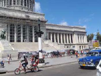 La restauración del Capitolio Nacional es la obra de mayor envergadura que acomete la Oficina del Historiador de La Habana. Foto: cafefuerte.com