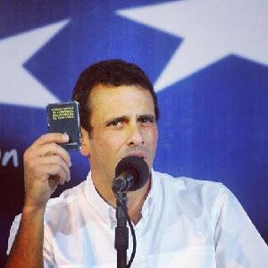 Henrique Capriles.  Foto: de su página en Facebook.