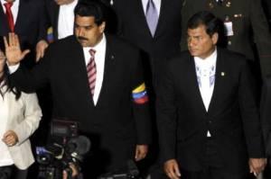 Nicolás Maduro y Rafael Correa