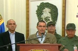 """""""Seremos implacables con quienes quieran irrumpir con el sistema eléctrico"""", enfatizó el vicepresidente Jorge Arreaza. (Foto: telesurtv.net)"""