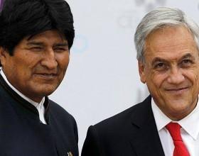 Evo Morales y Sebastián Piñera, presidentes de Bolivia y Chile.