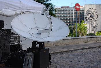 Telesur ha logrado un impacto enorme en Cuba. Foto: Raquel Pérez