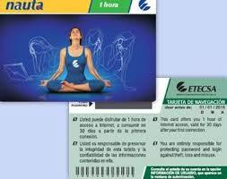 Tarjetas de Interent en Cuba a 4.50 CUC (5.00 USD).