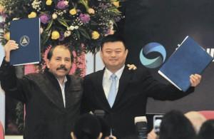 Daniel  Ortega y Wang Jing firman acuerdo sobre el canal. Foto: lajornadanet.com