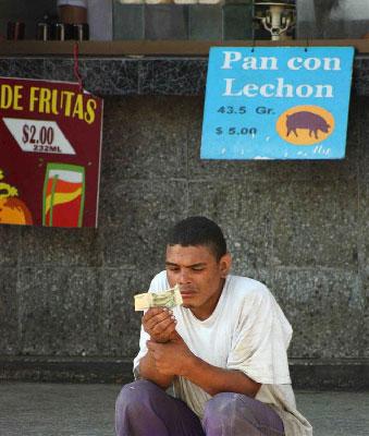El peso. Foto: Juan Suarez