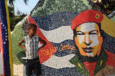 El mural a Hugo Chávez en Jaimanitas, La Habana. Foto: juventudrebelde.cu