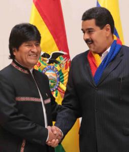Evo Morales y Nicolas Maduro