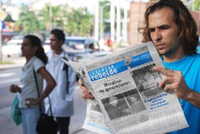 """""""Hemos suplido, frecuentemente, el juicio razonado por la propaganda"""", Raúl Garcés recién electo vicepresidente de la Unión de Periodistas. Foto: Raquel Pérez"""