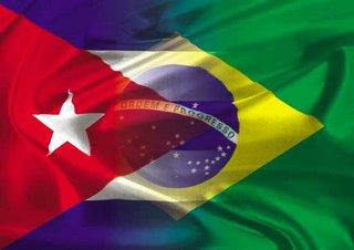 Banderas de Brasil y Cuba. Imágen: ain.cu