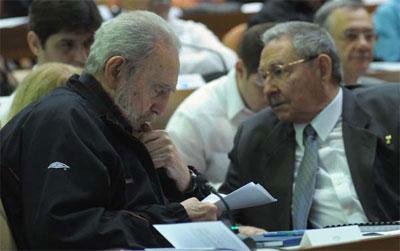 Fidel and Raul Castro.