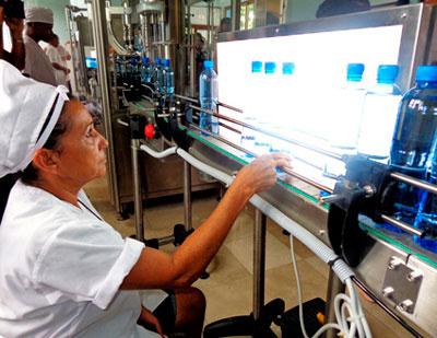 La nueva embotelladora Sierra Canasta.  Foto: trabajadores.cu