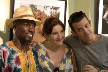 Alfredo Duquesne, Emma Christopher y Sergio Leyva en la Casa de Africa.