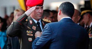 El general de bridada Manuel Bernal cuando fue designado jefe de intelegencia.   Foto: versionfinal.com.ve