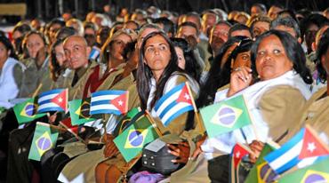 Una parte de los mas de 7,000 galenos que prestan servicios en Brasil. foto: juvenal Balán/granma.cubaweb.cu