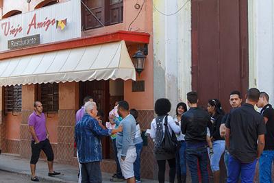 Restaurante en el barrio Chino de La Habana.  Foto: Juan Suárez