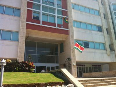 Entrada del Centro de Negocios de Miramar.