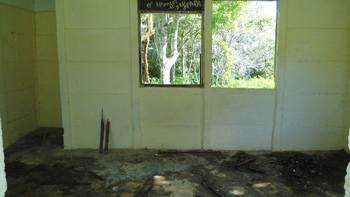 Interior de casa vecina al campismo.