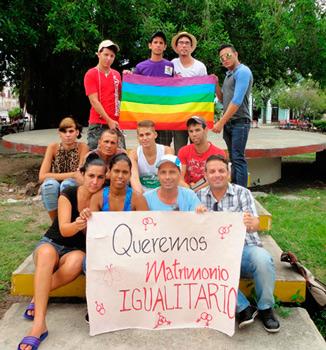 Activistas LGBT en Sagua la Grande, Cuba