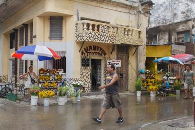 Un día lluvioso.  Foto: Juan Suárez