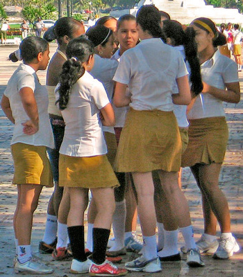 Estudiantes de secundaria. Foto: Carol R. Campbell