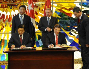 Raul Castro and Xi Jinping oversaw the signing of accords last July in Havana.
