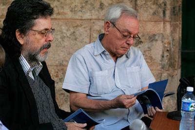 Abel Prieto y Eusebio Leal