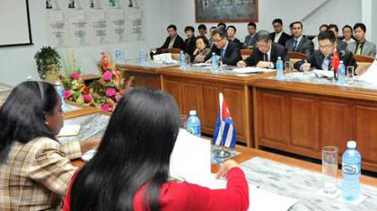 la XXVII Comisión Intergubernamental Cuba-China.