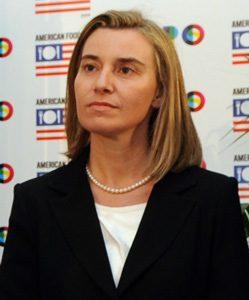 La jefa de la diplomacia europea, Federica Mogherini.  Foto: wikipedia.org