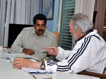 Nicolás Maduro y Fidel Castro en La Habana.  Foto/archvo: AVN
